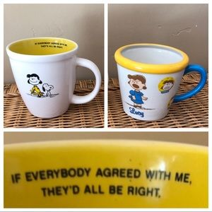 Peanuts Lucy Set of Two Coffee Mugs